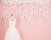 Lace Felt Garland, Wedding Backdrop, Photography Back drop, wedding decor, curtain, modern home decor, nursery decor