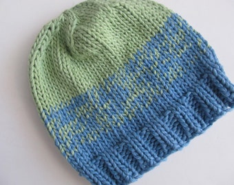Cotton Handknit Hat for Baby or Child. Handknit, Good for Chemo Cap. One of a Kind, Ready to Ship