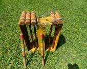 Vintage Croquet Set, Lawn Croquet, Wood Croquet Set, 1930's Standard Croquet