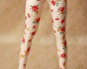 Super Gem Ivory Floral Jeggings For 65cm SD Ball Jointed Dolls