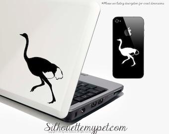 Ostrich Decal Vinyl Sticker - SilhouetteMYpet Design:BIR-OST01