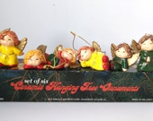 Enesco Angel Tree Ornaments - Set of Six Ceramic Hanging Ornaments