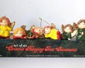 Enesco Angel Tree Ornaments - Set of Six Ceramic Hanging Ornaments