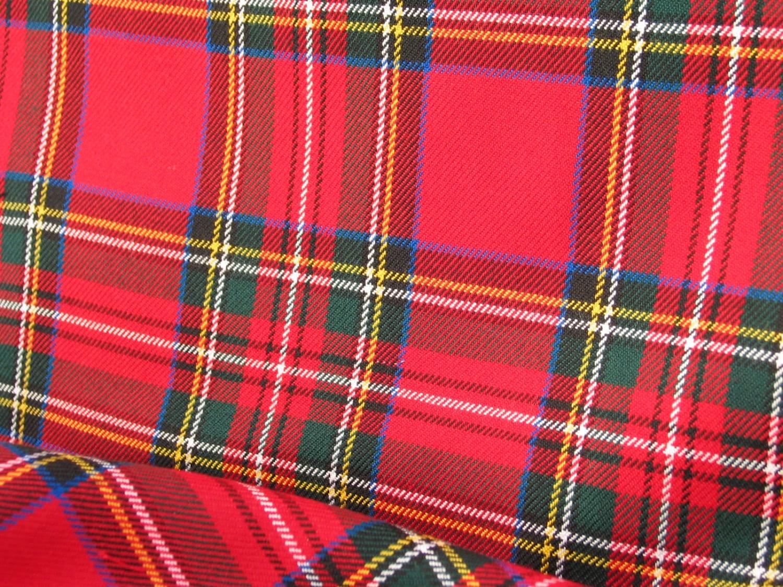Royal stewart royal stewart tartan fabric red by dolldressedup