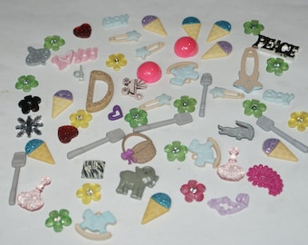 50 Assorted Theme Embellishment Card making Scrap booking   Lot 1249