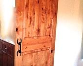 Horseshoe door pulls, forged handle hardware, incl. wood screws