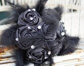 Black Brooch Bouquet, customize your colors!