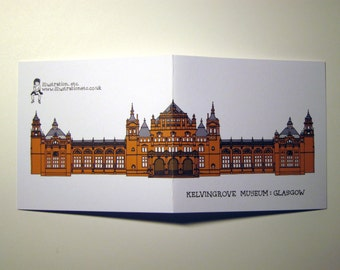 Glasgow Architecture notelet cards - 4 designs available
