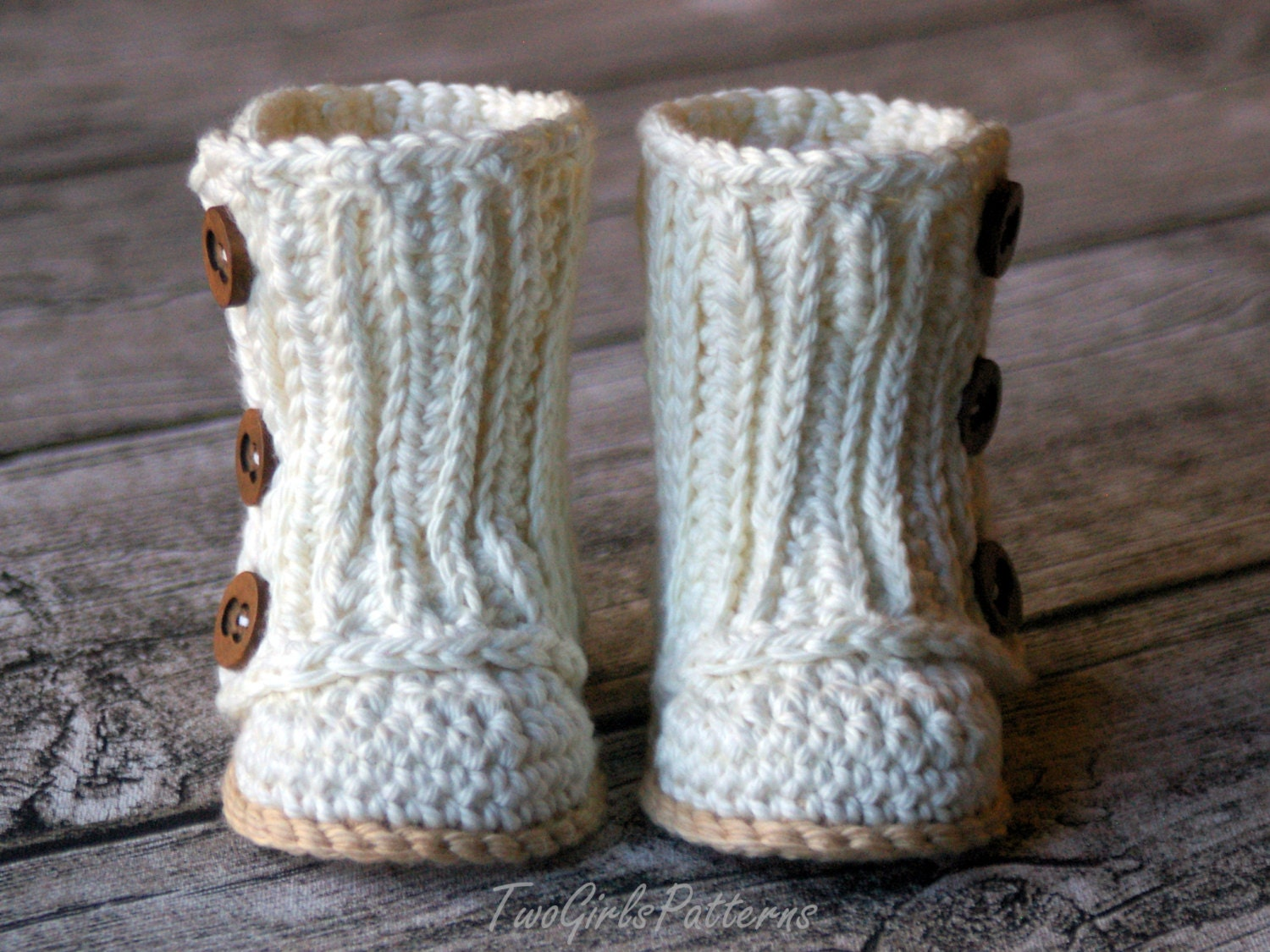 Crochet Patterns For Baby Washcloths : Crochet Pattern 112 Baby Wrap Boot Instant Download PDF