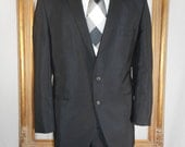 Reserved fo Susan Vintage 1960's Society Brand Clothes Black Suit - Size 43