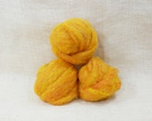 Needle felting wool batting in Gold, wool batting, felting supplies, fleece wool batting in Gold, golden wool, wool for spinning,