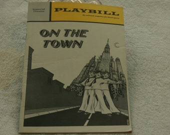 On the Town 1971 Broadway Playbill SALE