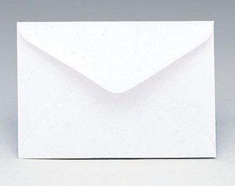 "125ct WHITE Florist Enclosure Card ENVELOPES - Mini Small 3"" x 4-1/2"" (Free Shipping!)"