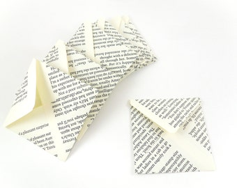 Book Page Envelopes, Old Book Pages Stationery, 3x3 Envelopes, Old Books Envelopes, Journal Envelopes, Square Book Page Envelopes, Old Books