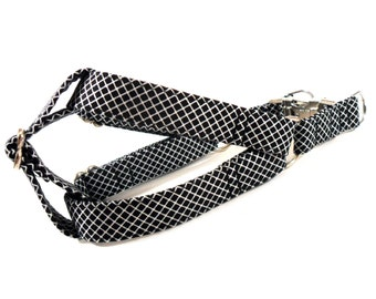 Dog Harness, CRISSCROSS in BLACK, Handmade Dog Harness, Dog Step in Harness, Step in Dog Harness