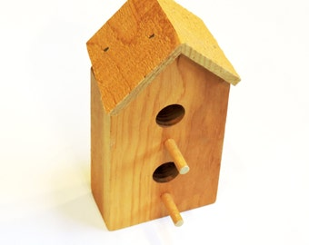 Unfinished Wood Birdhouse, Wooden 2-Story Small Wooden Pine Bird House to Paint, Craft Supply itsyourcountry