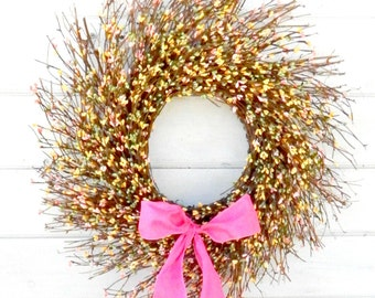 Spring Wreath-Easter Wreath-Spring Door Decor-Rustic Twig Wreath-Scented Wreath-Summer Wreaths-Year Round Wreath-Gifts-Holiday Home Decor