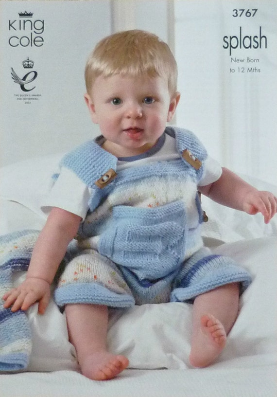 K3767 Baby Boys Dungarees with Pocket by KnittingPatterns4U