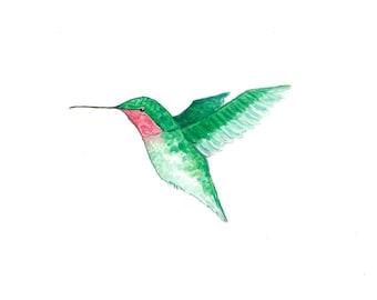 Hummingbird - Original Watercolor Painting