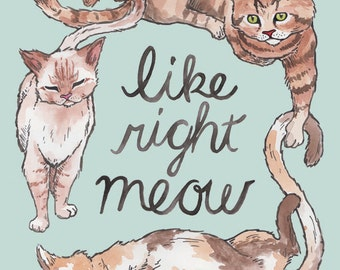Like Right Meow // 8.5x11 print