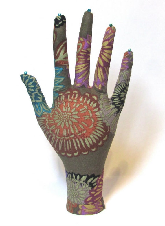 RESERVED for Clare Dahlia Fabric Hand Jewelry Display REGULAR WristStyle HAND-Stand