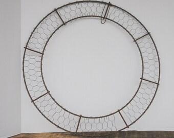 Vintage Chicken Wire Wreath Handmade