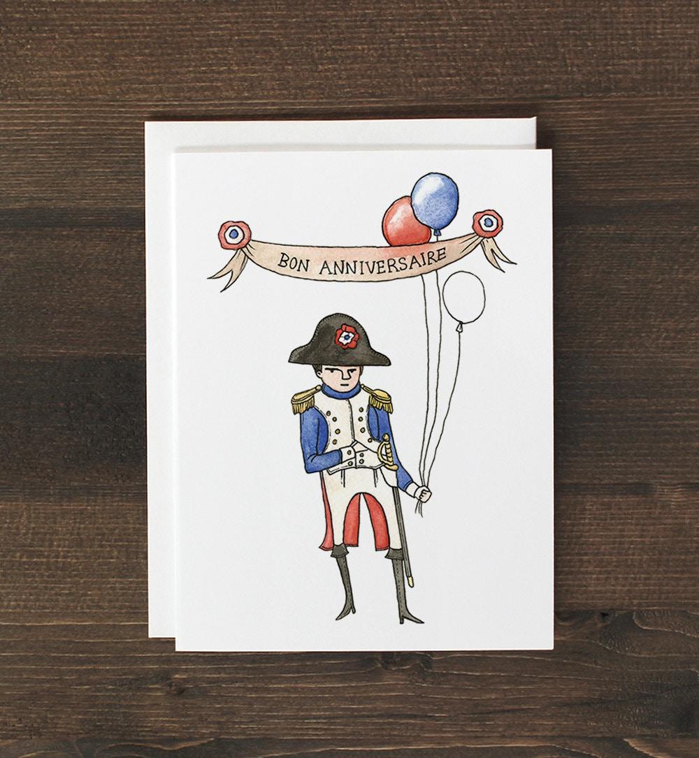 Funny Birthday Card In French Napoleon Bonaparte Bon