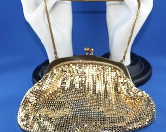 Vintage Gold Mesh Evening Bag Purse