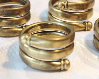 Brass Swirled Napkin Holders Set of Six
