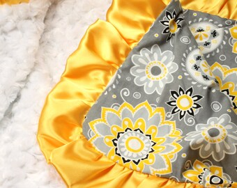 Baby Blanket, Satin Ruffle Blanket, Minky Baby Blanket, Minky Blanket, Baby Blankets for Girls, Baby Blankets Personalized, Personalized