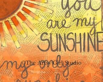 You are my sunshine, my only sunshine... 8x8 Art Print