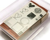 Valentine Heart Stamps, Stampin' Up Rubber Stamps, Much Love Set, Greeting Card Stamps, Wedding Favor Stamps, Gifts For Her, New Stamp Set