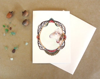 Quilted Forest: Lily the Sheep // Art Greeting Card