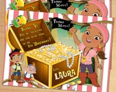 Izzy - Jake and the Never Land Pirates - Thank You Card - Digital - Personalized Birthday Party Than You Card