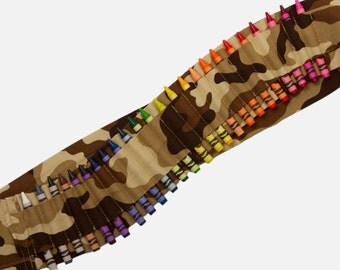 Kids Crayon Bandolier | Brown Camo