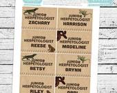 Reptiles & Amphibians Fillable Junior Herpetologist ID Badges - INSTANT DOWNLOAD