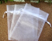 """4"""" x 6"""" White Organza Bags for Wedding Favor, Party Favors, Baby Shower Favors, Gift Bags, Saches, Jewelry Bags, 10 cm x 15 cm, 10 pcs"""