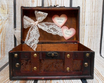 Personalized Wedding Wishes Box | Wedding Wishing Well | Guest Book Alternative | Vintage Inspired Wedding Decor [CLEARANCE SALE]