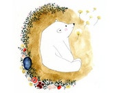 Bear, Archival Art Print, Watercolor