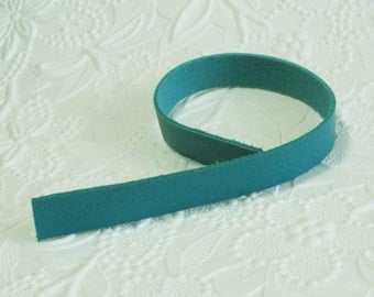 Leather Strap_Turquiose_10 inches long_1/2 inch wide_Bracelet Strap