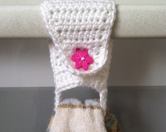 Towel Holder / Towel Ring / Towel Topper / Kitchen Towel Holder / Crochet Towel Holder
