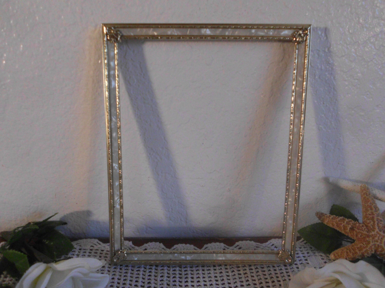 vintage gold metal picture frame 8 x 10 photo decoration. Black Bedroom Furniture Sets. Home Design Ideas
