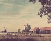 Netherlands Photo, Thoughtful Gift, Holland Photography, Living Room Art, Dutch Windmills, Dutch Countryside, Dutch Farm, Netherlands Art