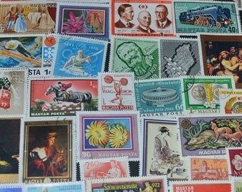 50 Hungarian Stamps  great clip art scrapbooking