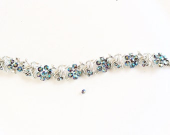 CLEARANCE vintage rhinestones bracelet  beautiful but with missing stones for repair assemblage or crafts