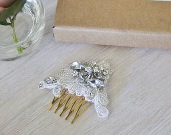 Petite crystal rhinestone bridal hair comb