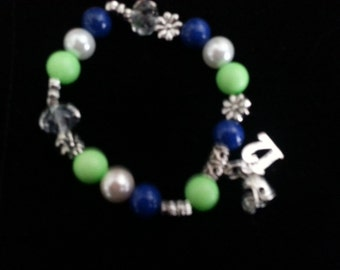 SEAHAWKS! Seattle Seahawk Bracelets and Charms. Choose a style or I'll design a special Bracelet, you pick the charm