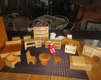 Creative Playthings Wooden toys mid century made in Finland lot of 16