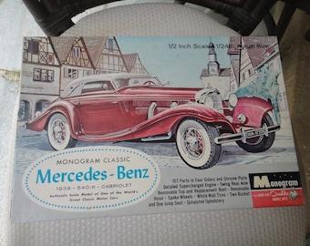 Monogram classic Mercedes-Benz 1939 540-k Cabriolet 1/24 scale model 1963 kit