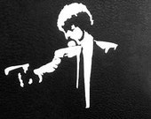 Pulp Fiction vinyl window decal 5x5